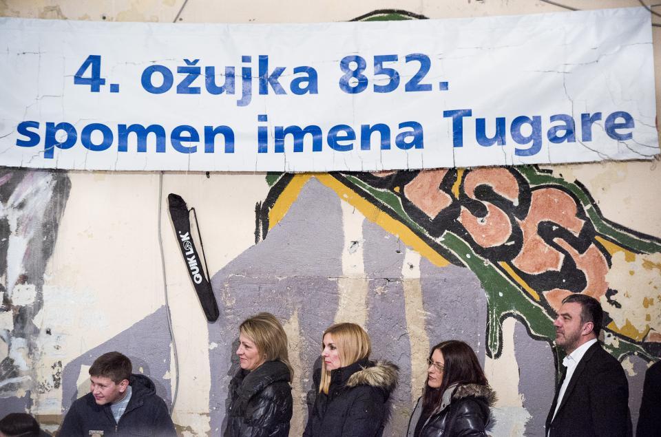 Tugare, 060316. U Domu na Docinama obiljezena je 1164. obljetnica prvog spomena imena Tugare u Povelji kneza Trpimira, najstarijem sacuvanom spomeniku hrvatskog prava. Foto: Ante Cizmic/CROPIX