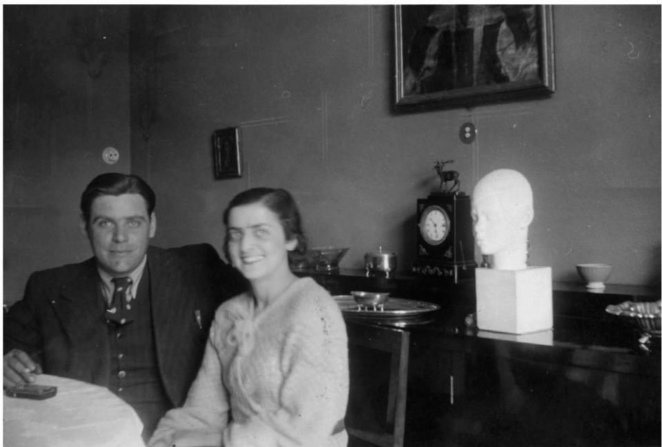 Vladan i Ksenija Desnica u svojemu stanu u Splitu