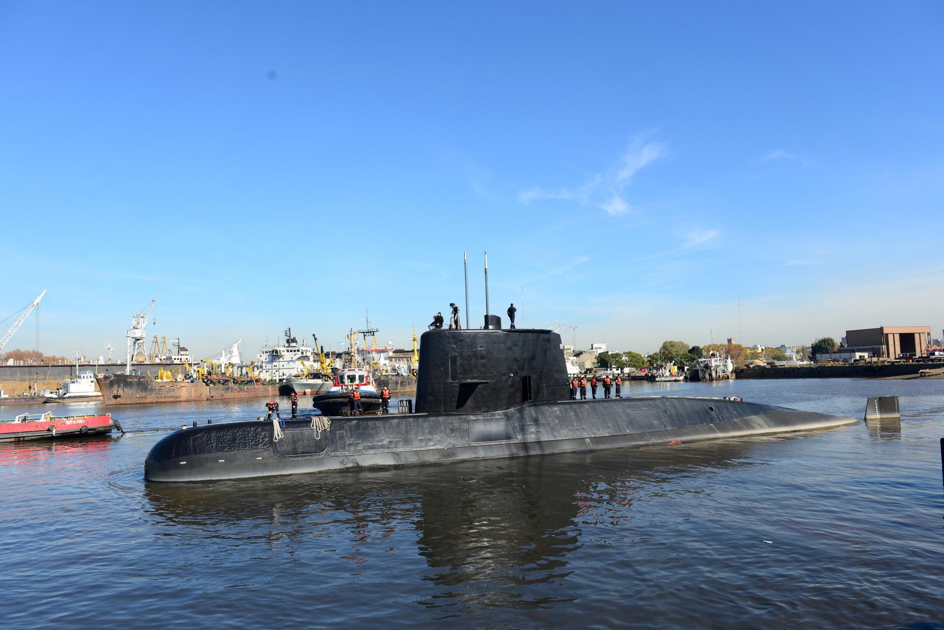 Podmornica ARA San Juan na izlasku iz luke