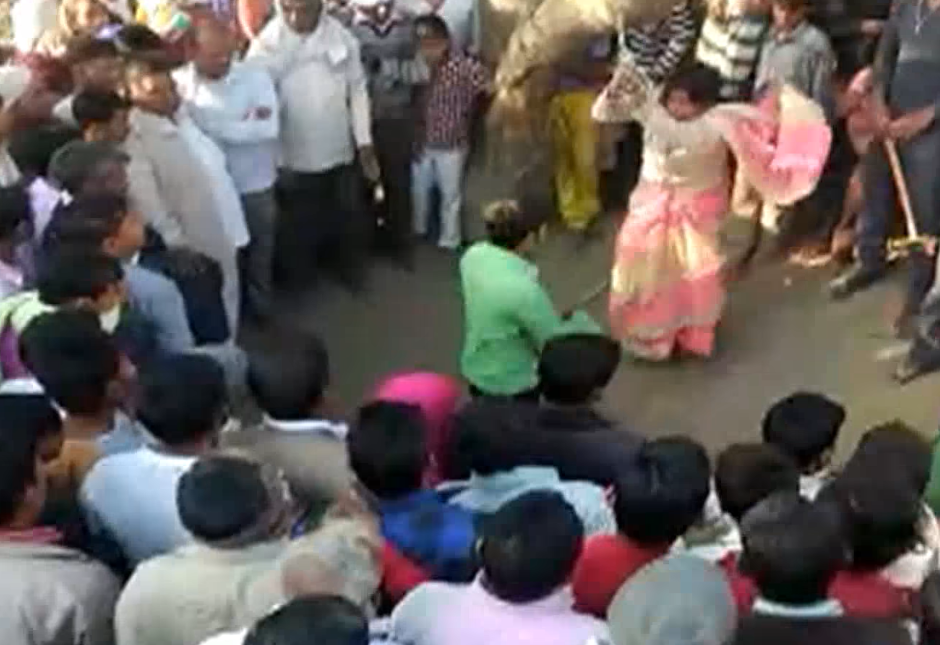 7  Woman Tied To Tree  Flogged By Husband On Panchayat's Orders   NYOOOZ TV   YouTube