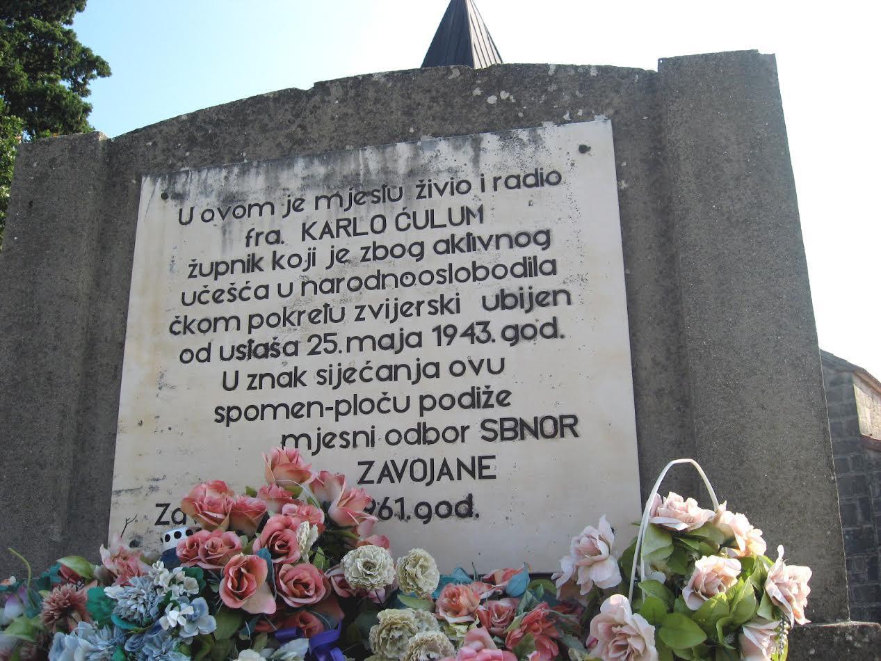 Spomenik fra Karlu Ćulumu