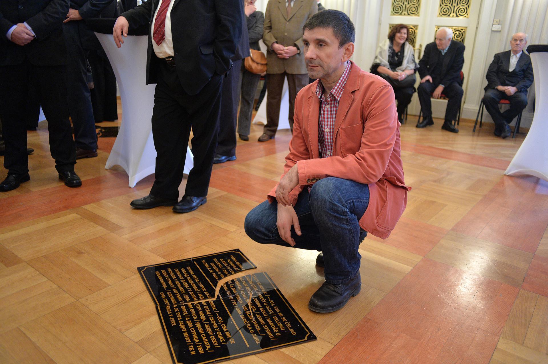 Siniša Labrović za jedne instalacije u Zagrebu