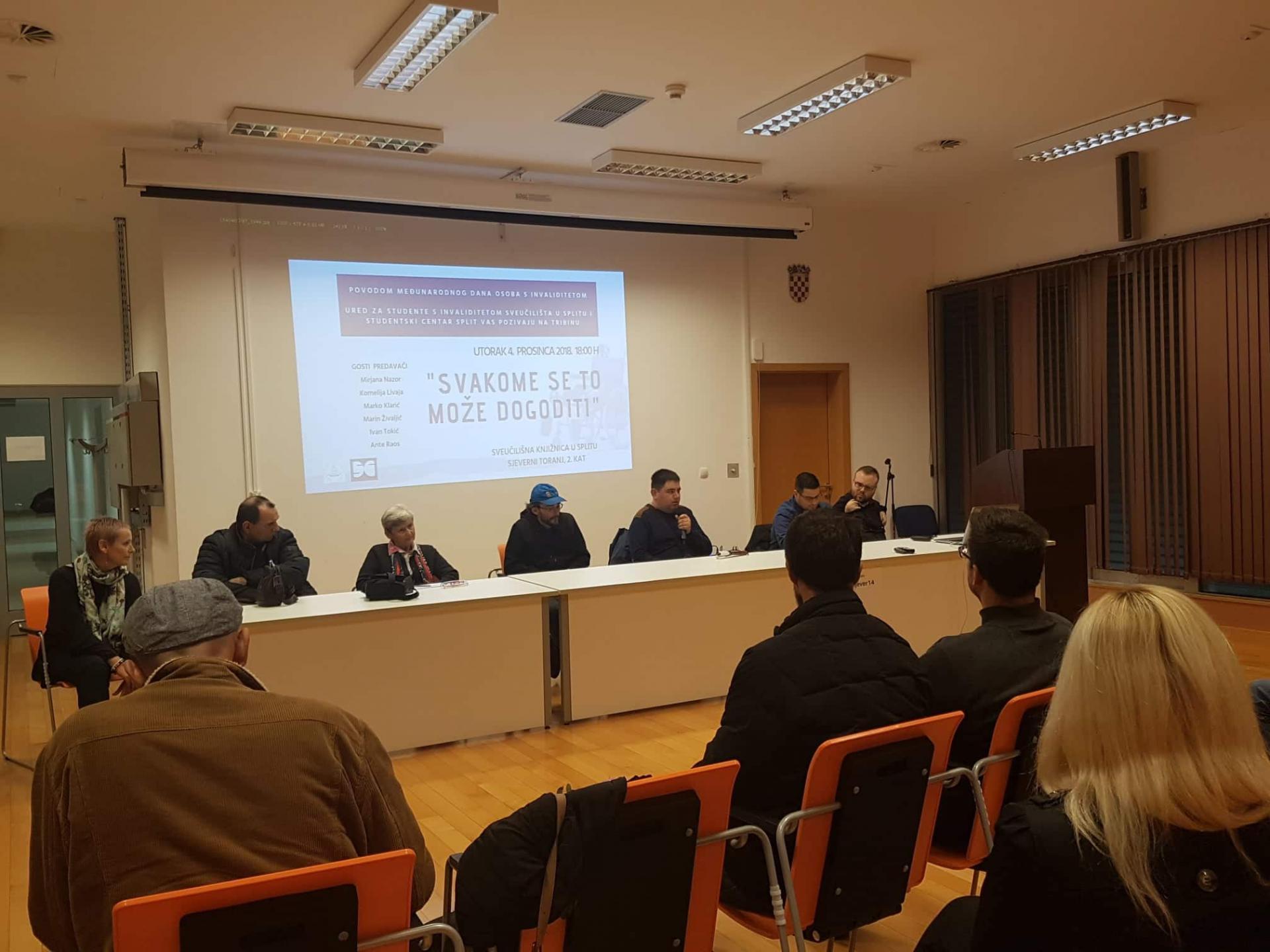 Sudionici tribine održane u Sveučilišnoj knjižnici