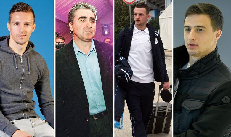S lijeva na desno: Mislav Oršić, nogometaš Dinama; Tihomir Markić, urolog i suprug Željke Markić; Ivan Tomečak, nogometaš u belgijskom Clubu Brugge; Matej Mitrović, nogometaš u belgijskom klubu Brugge