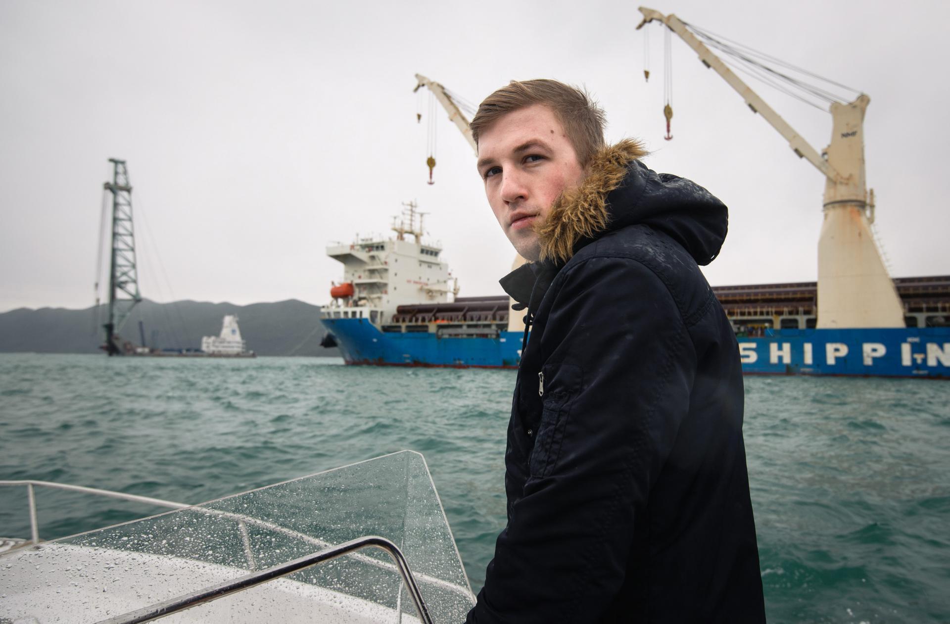 Ivo Jerković Bili uz kineske brodove na gradilištu budućeg pelješkog mosta