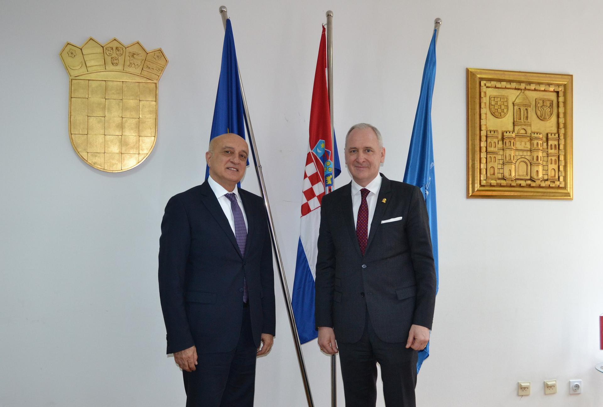 Gradonačelnik Krstulović Opara i veleposlanik Fakhraddin Gurbanov