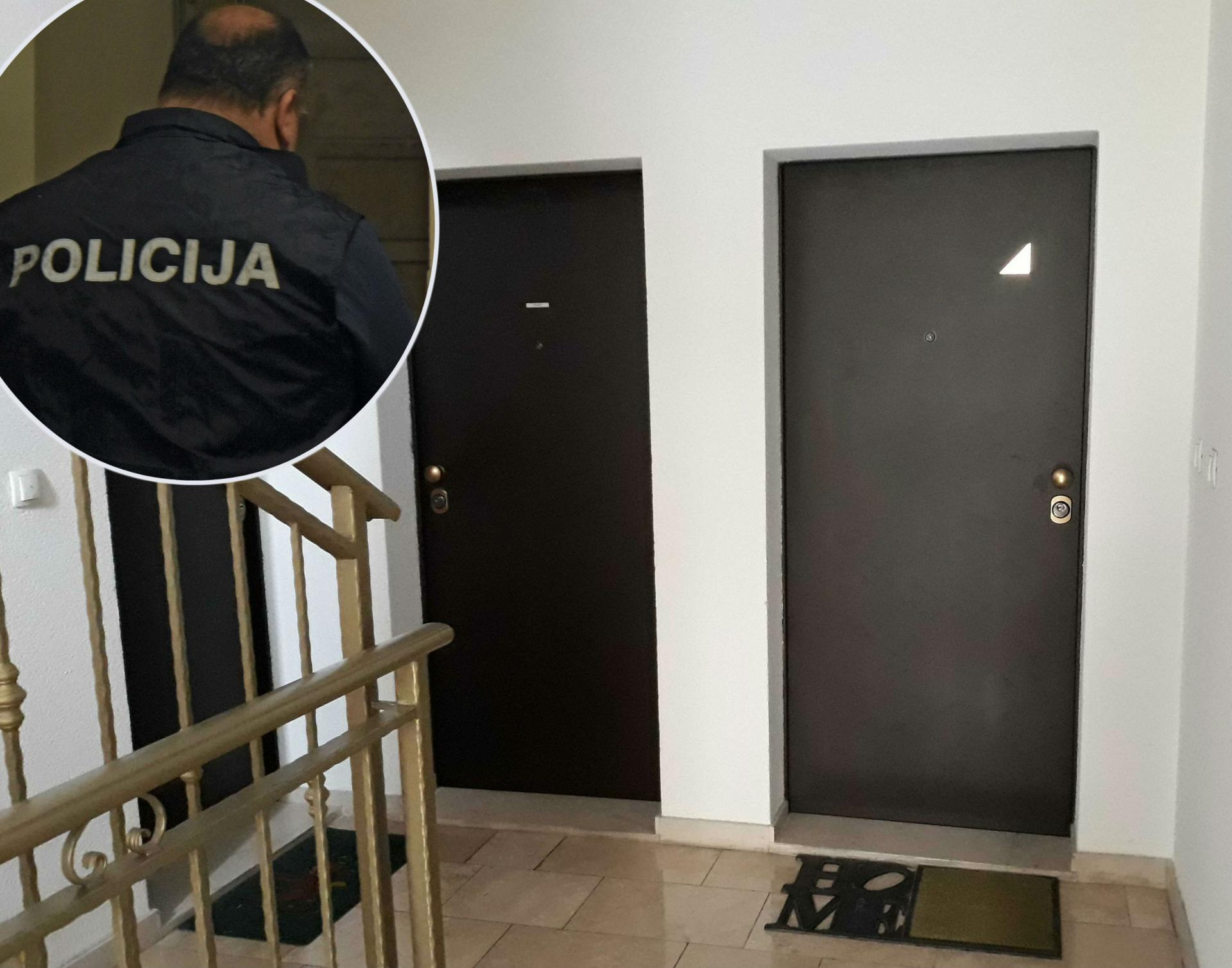Desno je ulaz u stan ranjenog Lea Krstulovića, a lijevo uhićenog pomorca