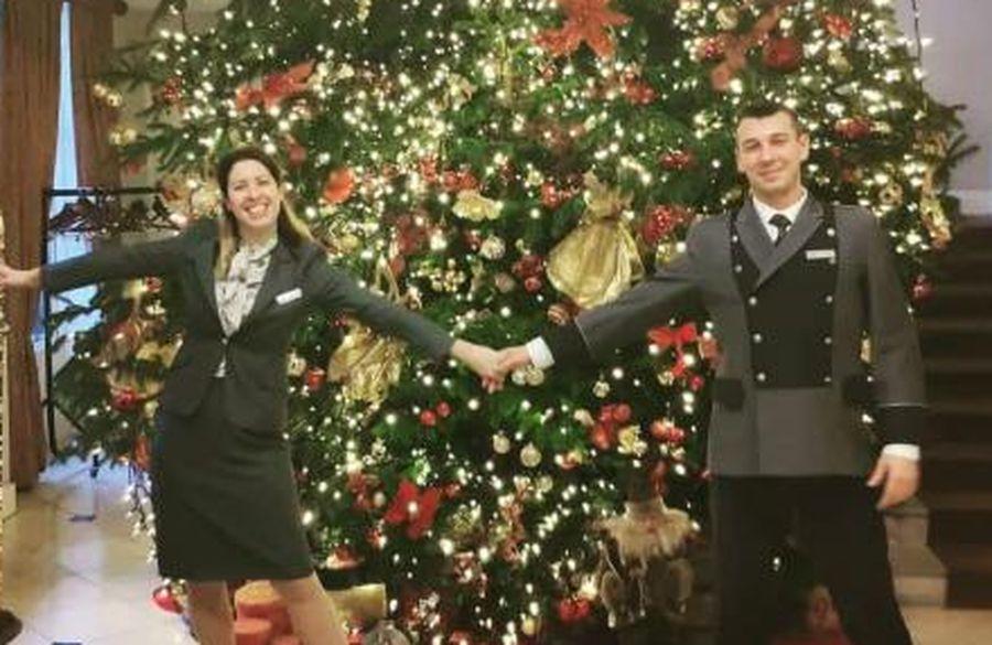 Nana Novaković i Zagrepčanin Domagoj Slaviček na svom radnom mjestu u vrijeme božićnih blagdana