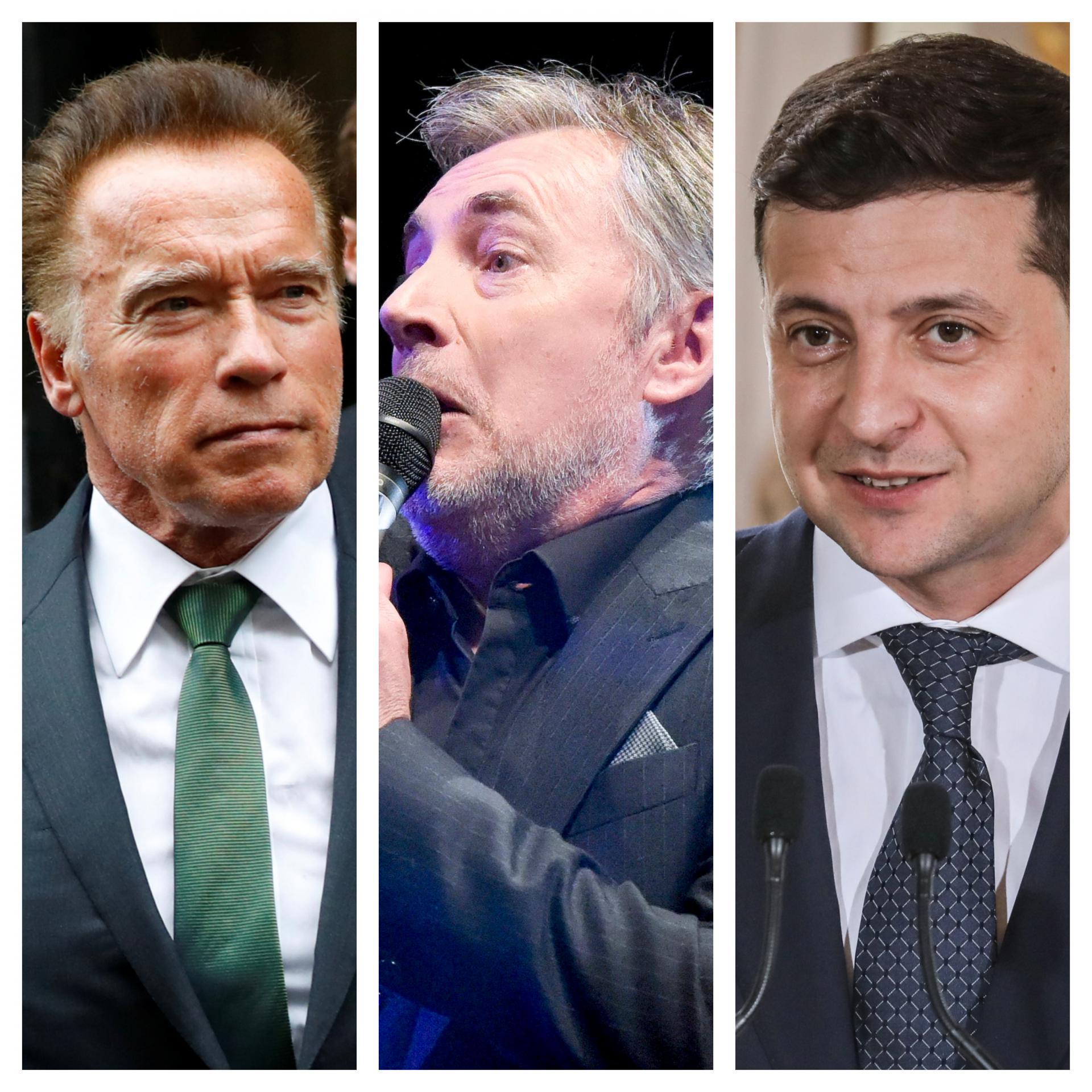 Arnold Schwarzenegger, Miroslav Škoro i Volodimir Zelenskij