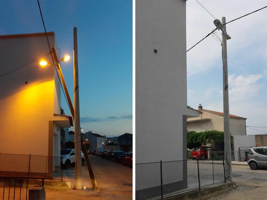 Rasvjetni stup prije i poslije