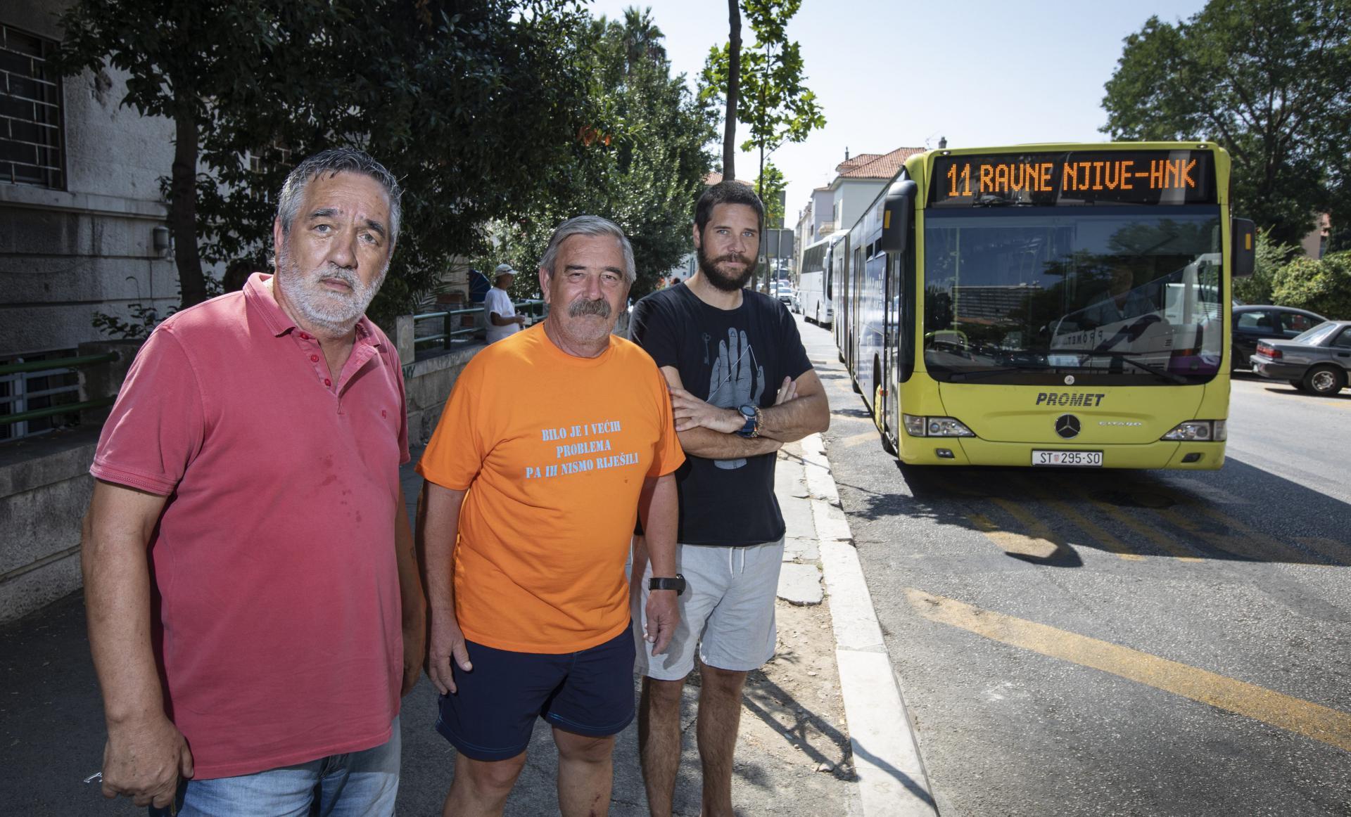 Elio Bulić, Antiša Truta i Veljko Popović ukazuju na problem stalnih kašnjenja autobusa i problematičnog prolaska vozila hitnih službi