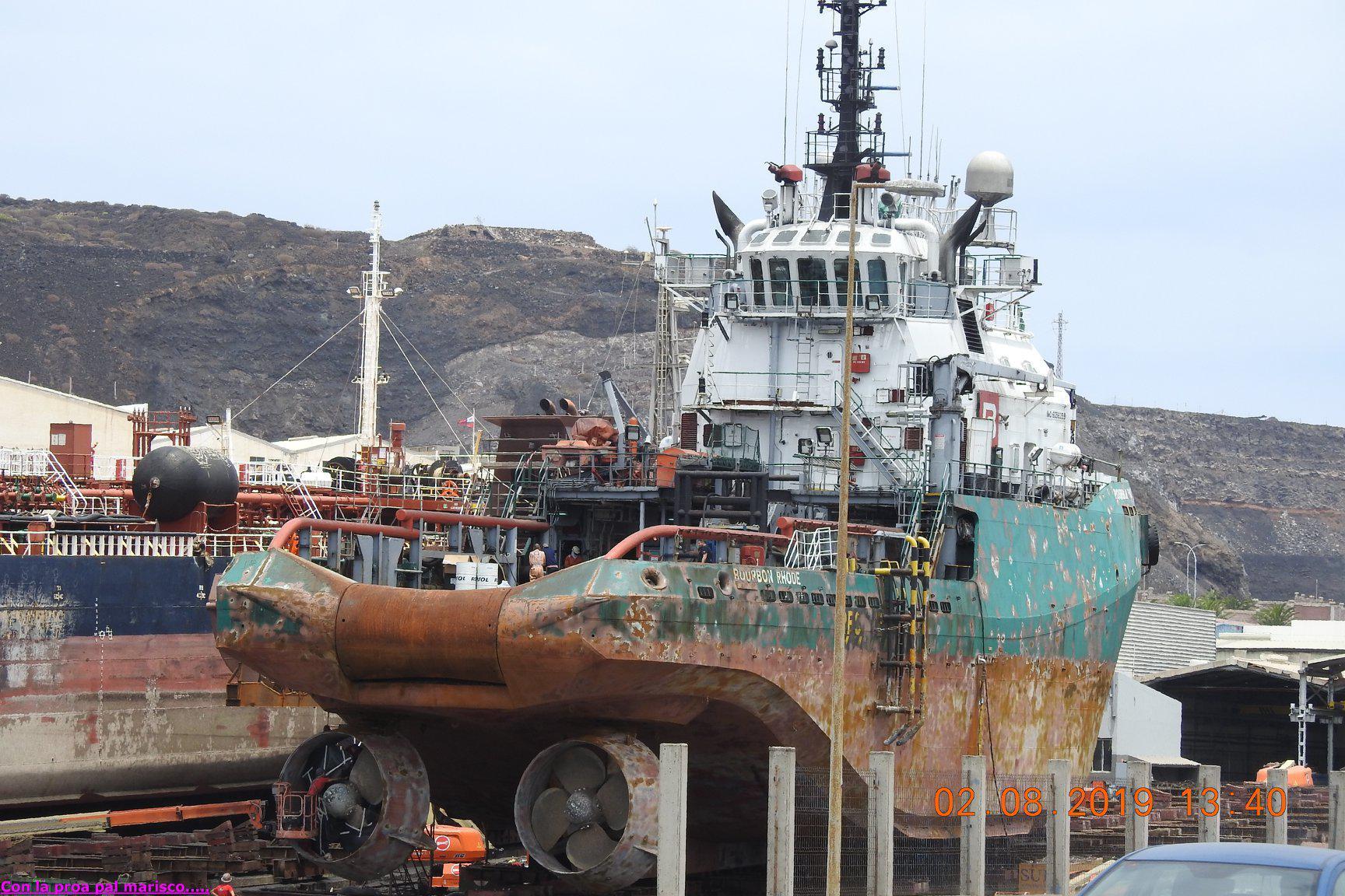 Bourbon Rhode snimljen u kolovozu u Las Palmas de Gran Canaria, brodogradilište Zamakona