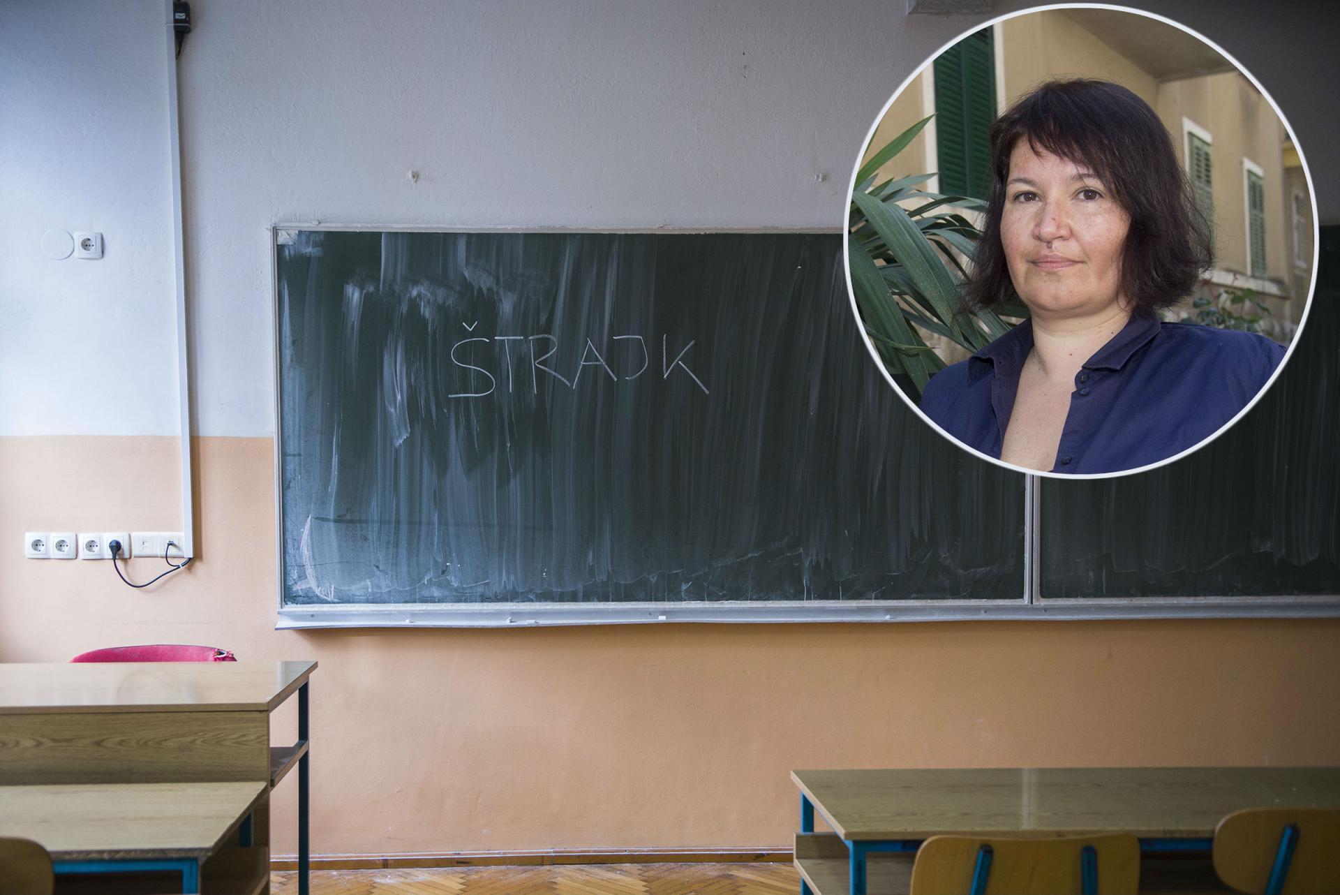 Ana Hinić. sindikalistica iz Splita: Hvala roditeljima što nas podržavaju, na vrijeme ćemo javiti kad će opet biti štrajk