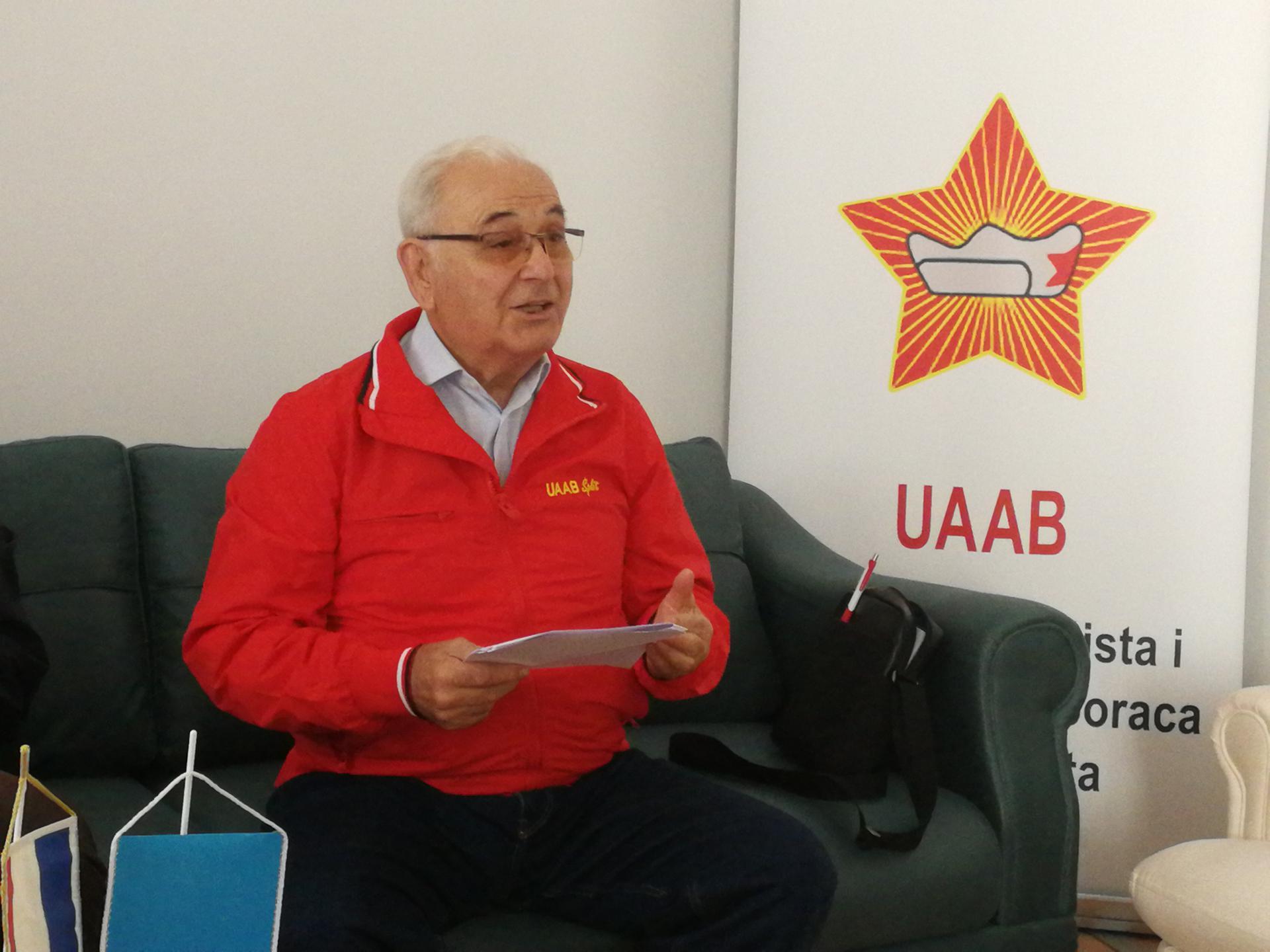 Josip Milat, predsjednik splitske Udruge antifašista i antifašističkih boraca