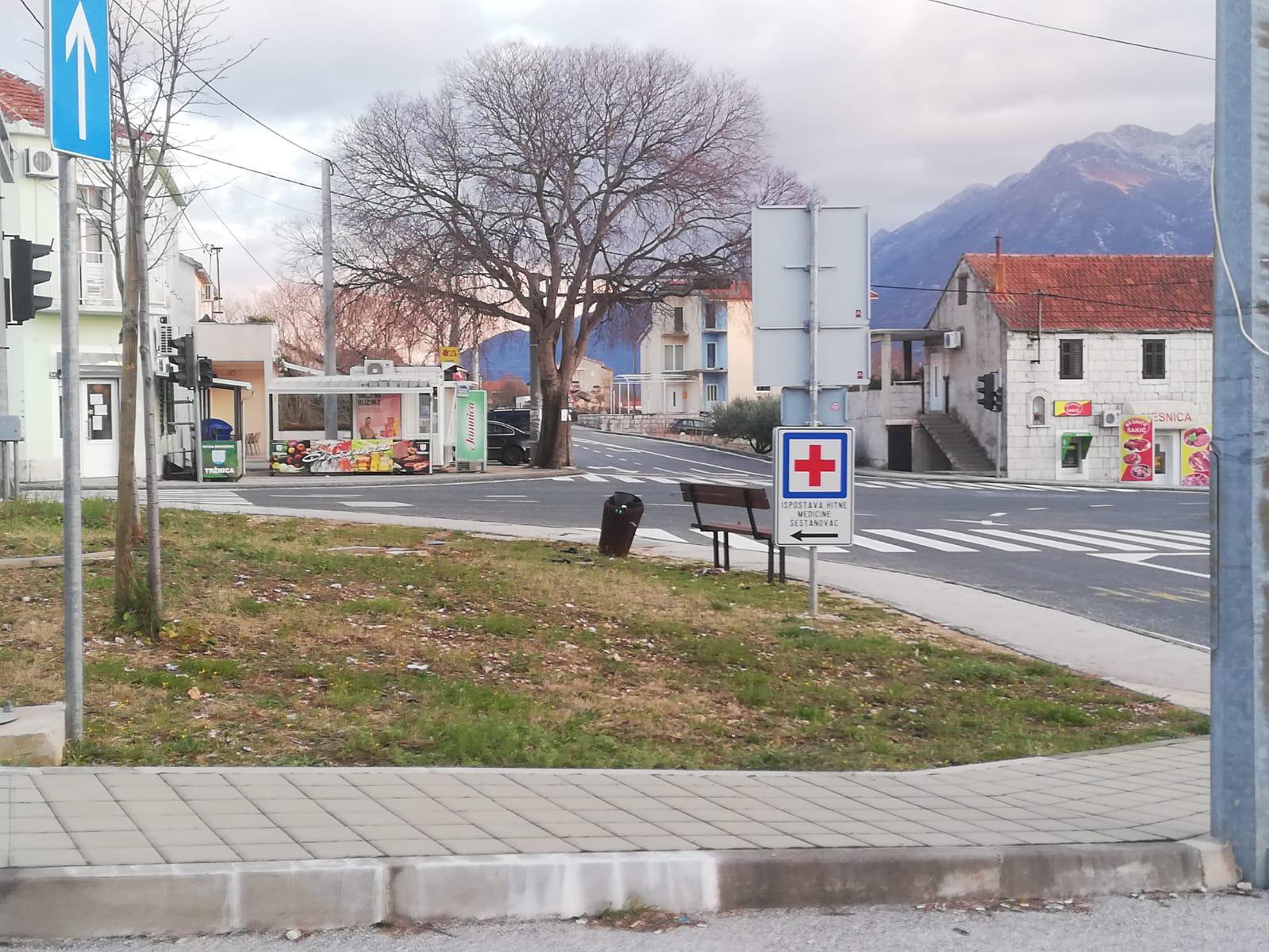 Mjesto na križanju gdje je stajao semafor