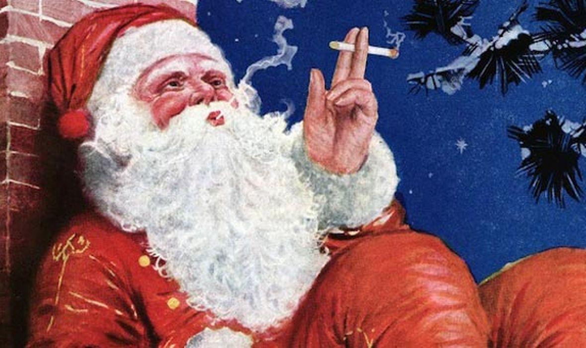 djed božićnjak pušenje