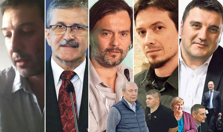 s lijeva na desno: Nikola Bajto, Miodrag Šajatović, Dražen Klarić, Neven Barković, Goran Ogurlić; dolje s lijeva na desno: Danko Končar, Velimir Bujanec, Željka Markić, Neven Cambj, Milijan Brkić