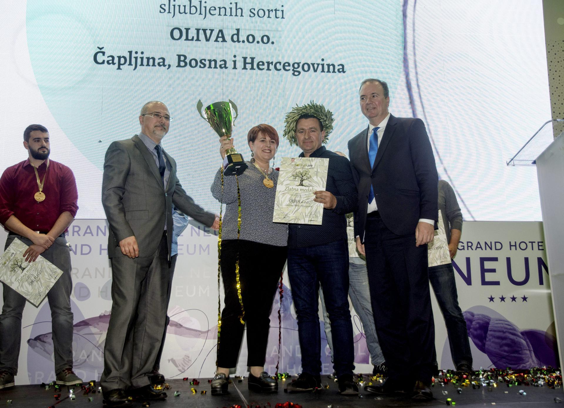Oliva d.o.o. Čapljina, pobjednici u kategoriji otvorenih ulja