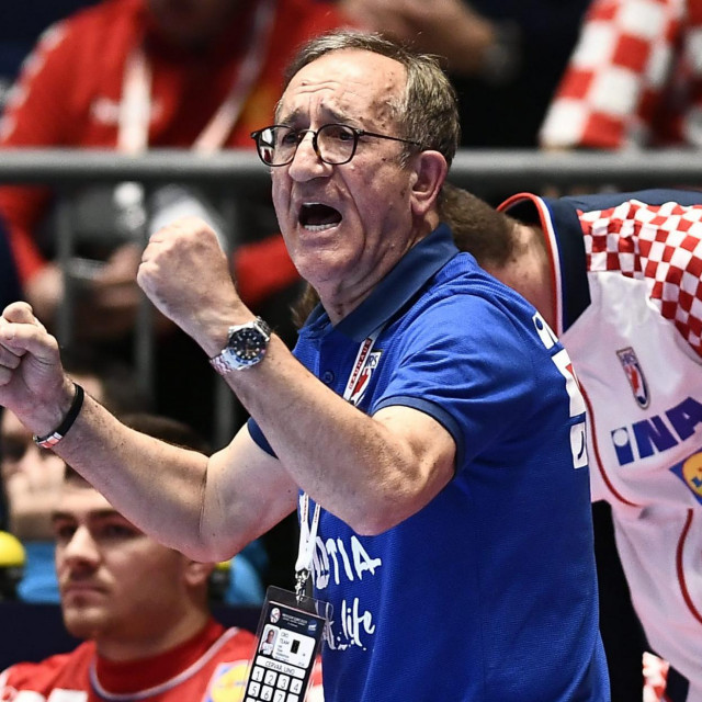 Austrija, Graz, 110120.<br /> Europsko rukometno prvenstvo.<br /> Utakmica skupine A, izmedju Hrvatske i Bjelorusije.<br /> Na fotografiji: Lino Cervar.<br />