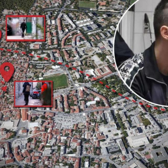 Rekonstrukcija kretanja Filipa Zavadlava na dan trostrukog ubojstva u Splitu