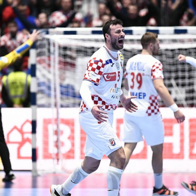 Austrija, Graz, 130120.<br /> Europsko rukometno prvenstvo.<br /> Utakmica skupine A, Hrvatska - Srbija.<br /> Na fotografiji: Domagoj Duvnjak<br />