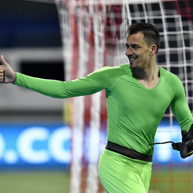 Zagreb, 210319.<br /> Stadion u Maksimiru.<br /> Kvalifikacije za UEFA Europsko nogometno prvenstvo 2020, skupina E,<br /> Hrvatska - Azerbajdzan.<br /> Na fotografiji: Lovre Kalinic.<br />