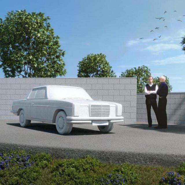 Komjutorska simulacija kompleksa sa spomenikom