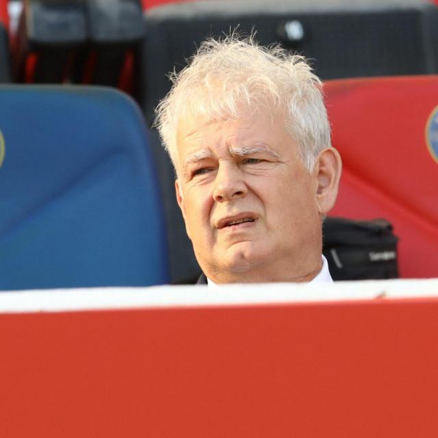 Split, 261019.<br /> Stadion u Poljudu.<br /> Utakmica 1. HNL izmedju Hajduka i Slaven Belupa.<br /> Na fotografiji: Marin Brbic.<br />