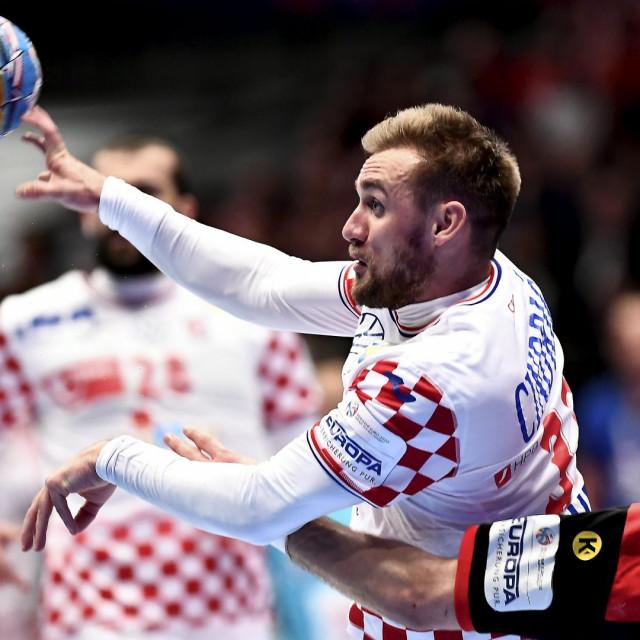 Bec, 180120.<br /> Rukometno Europsko prvenstvo izmedju Hrvatske i Njemacke, skupina 1.<br /> Na fotografiji: Luka Cindric.<br />
