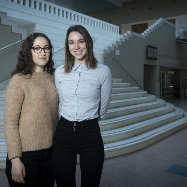 Ana Govorušić i Bruna Čalija na trećoj su godini Poslovne ekonomije