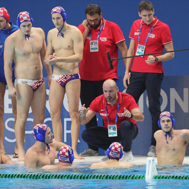 Budimpesta, 260120.<br /> 34 LEN Europsko prvenstvo u vaterpolu.<br /> Utakmica za broncanu medalju Hrvatska - Crna Gora.<br />