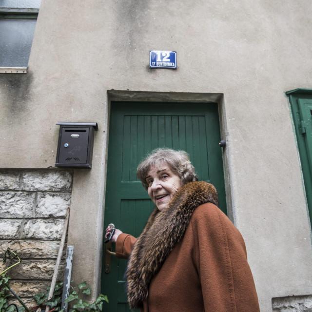 Sibenik, 130120.<br /> Reportaza o sibenskoj Gorici i njezinim stanovnicima.<br /> Na fotografiji: Katica Stambuk.<br />