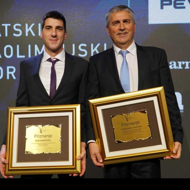 Uz Dina nagradu je dobio i njegov trener Slobodan Glavčić
