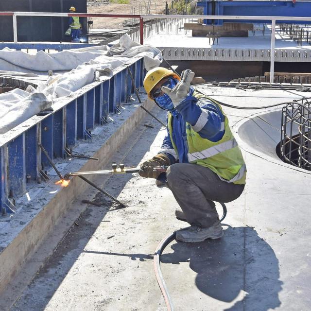 Gradilište mosta Pelješac na kojem se nalazi 600-tinjak kineskih radnika<br />   Denis Jerković /hanza media