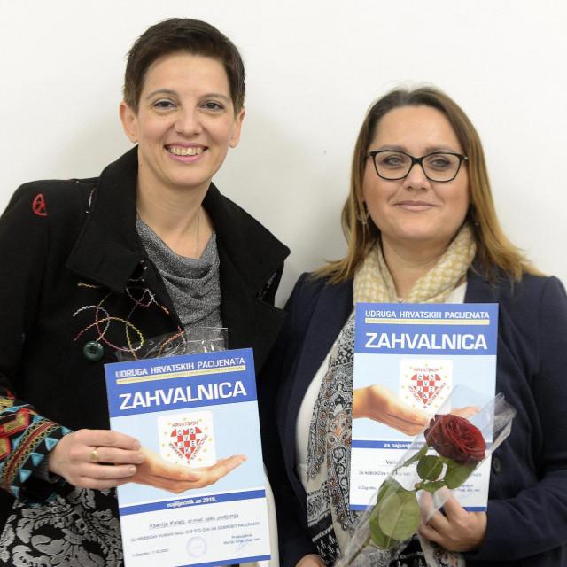 Ksenija Kaleb,pedijatrica iz Metkovića te medicinska sestra iz Zagreba Verica Farkaš