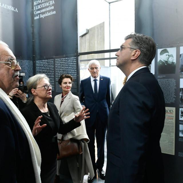 Andrej Plenković na otvorenju izložbe o Holokaustu u Hrvatskoj