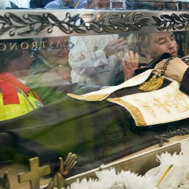 Relikvija svetog Leopolda Bogdana Mandića u svetištu Gospe od Pojišana