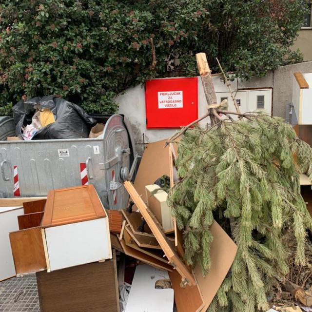 'Odbačeni otpad blokirao je i prilaz vatrogasnom priključku', upozorava ravnateljica Guć