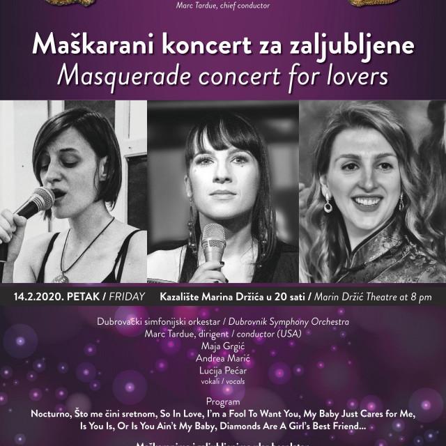 Maškarani koncert za zaljubljene u organizaciji DSO-a