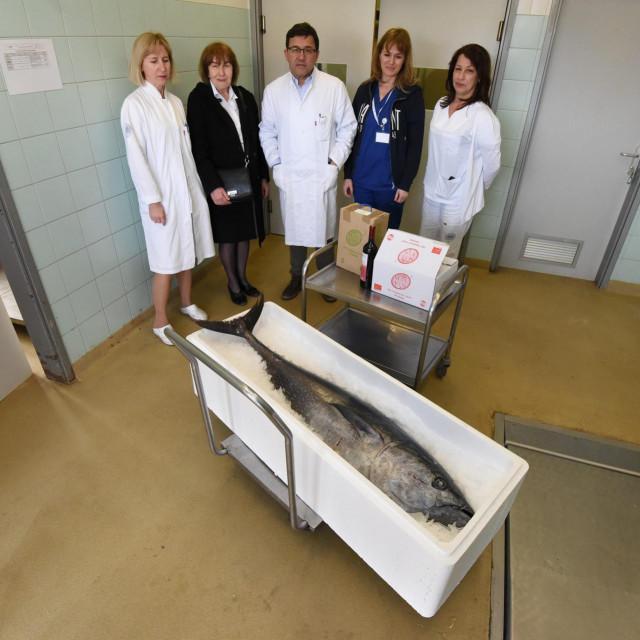 Na fotografiji: (u sredini) pomovnik ravnatelja bolnice dr. Neven Birkic sa suradnicima i predstavnicima udruge Lige protiv raka Zadar.<br />