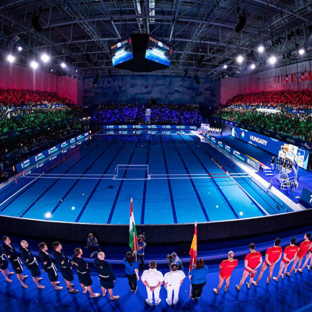 Venues<br /> Gold medal Match<br /> HUN - Hungary (white caps) Vs. ESP - Spain (blue caps) Men<br /> Budapest 26/01/2020 Duna Arena<br /> <br /> XXXIV LEN European Water Polo Championships 2020<br /> Photo ©Pasquale Mesiano/Deepbluemedia/Insidefoto