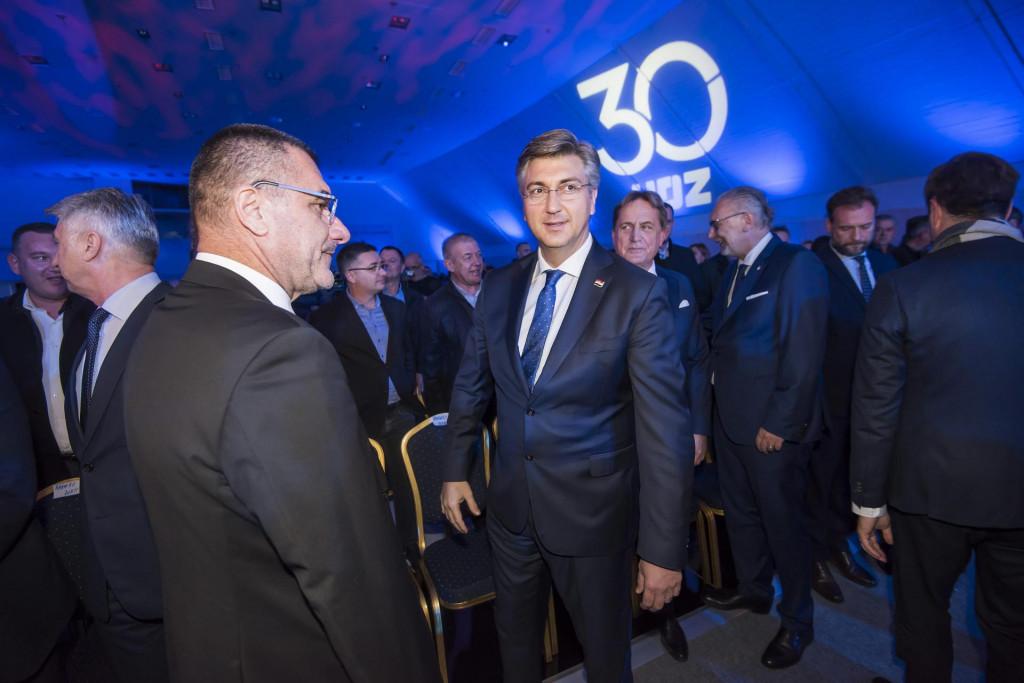 Na fotografiji: premijer Andrej Plenkovic i Joso Nekic.<br />