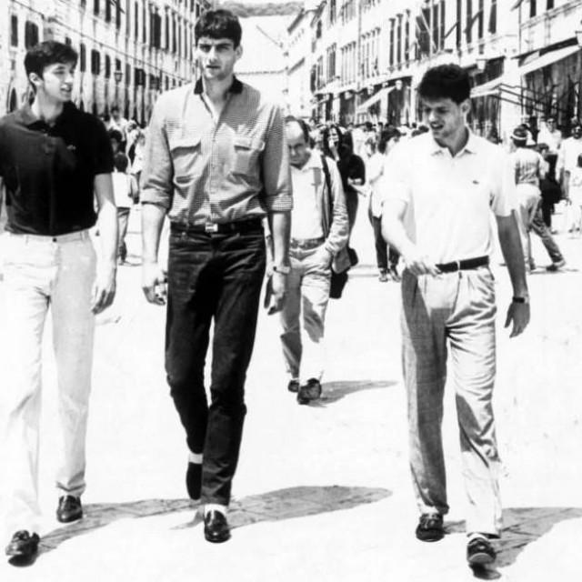 Tri velikana hrvatske košarke na Stradunu prije trideset godina