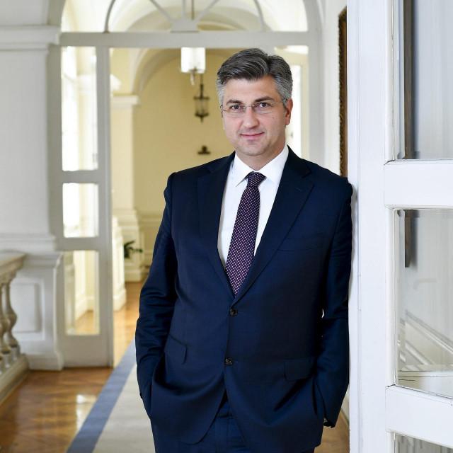 Zagreb, 100517.<br /> Predsjednik vlade RH Andrej Plenkovic, fotografiran u Banskim dvorima.<br />