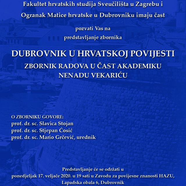 zbornik Matice Hrvatske Nenad Vekarić