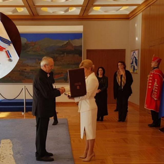 Predsjednica RH dodijelila Velered kralja Dmitra Zvonimira zadarskom nadbiskupu Želimiru Puljiću
