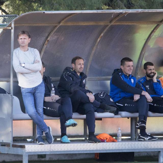 Split,150220<br /> Pomocni stadion u Poljudu, prijateljska utakmica: HNK Hajduk II - NK Sibenik.<br /> Na fotografiji: trener Krunoslav Rendulic.<br />