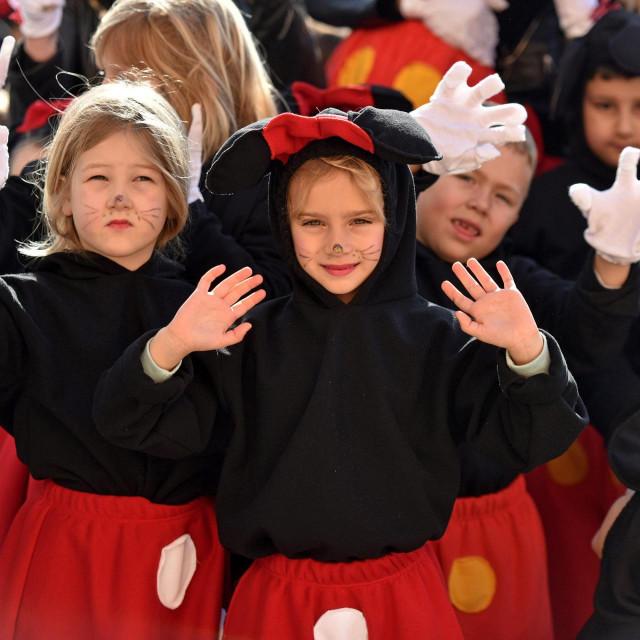Zadar, 180220<br /> Danas je gradom prosetala kolona maskaranih malisana iz zadarskih vrtica u sklopu tradicionalnog Karnevalica 057 Radia.<br />