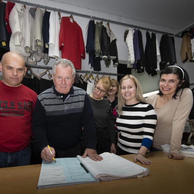 Ništa bez dobre radne ekipe: Ivan Najev, Dragutin Pezelj, Megi Šilović, Anka Pezelj, Vesela Pezelj Bilusić te Amela Kakša