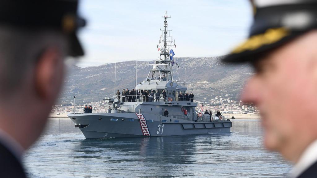 Prototip novog obalnog ophodnog broda Hrvatske ratne mornarice koji je izgrađen u Brodosplitu